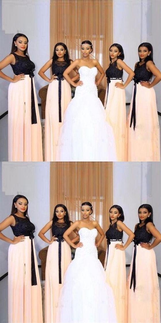 e577e127292 Scoop Neck Sleeveless Long Bridesmaid Dresses Inexpensive Prom Dresses   Bridesmaid  dresses  long