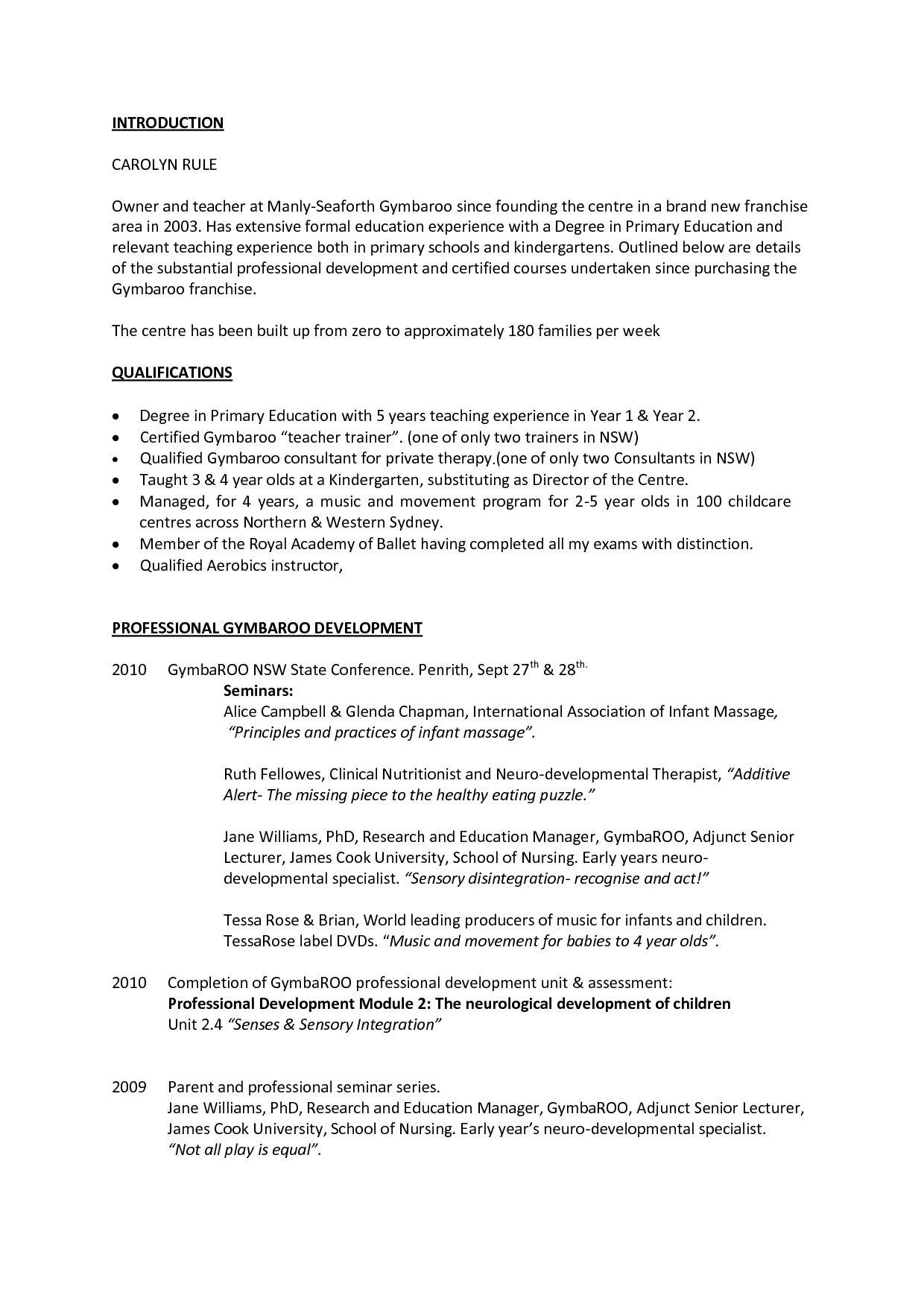 How To Set Out A Resume Australia Cvs Educators 39 Professional Résumés Has Been Supporting