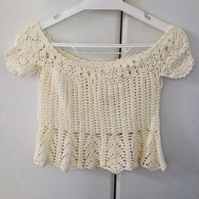 INSPIRAÇÃO Crochetemoda: Fevereiro 2015   polos   Pinterest   Blusas ...