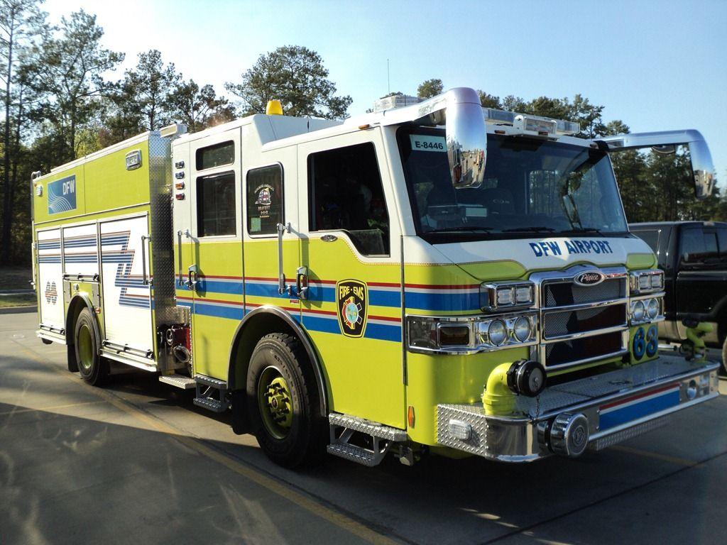 Dallas Fort Worth Airport Fire trucks, Fire engine, Fire