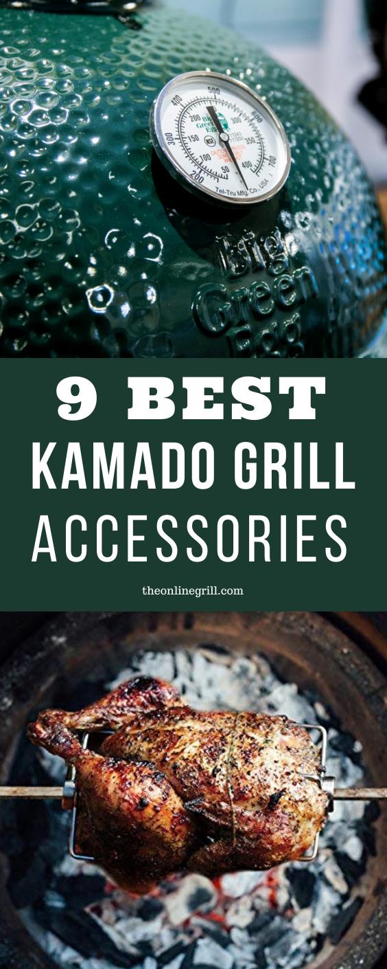 9 Best Kamado Grill Accessories Rotisserie Kits Pizza Stones And More In 2020 Best Kamado Grill Kamado Grill Grill Accessories