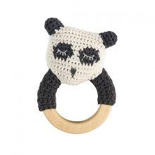 sebra Häkel-Rässel auf Holzring Panda