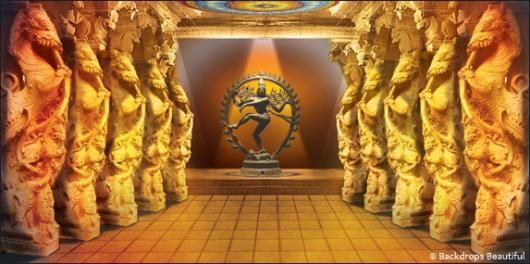 Debut Stage Backdrop south indian temple ba...