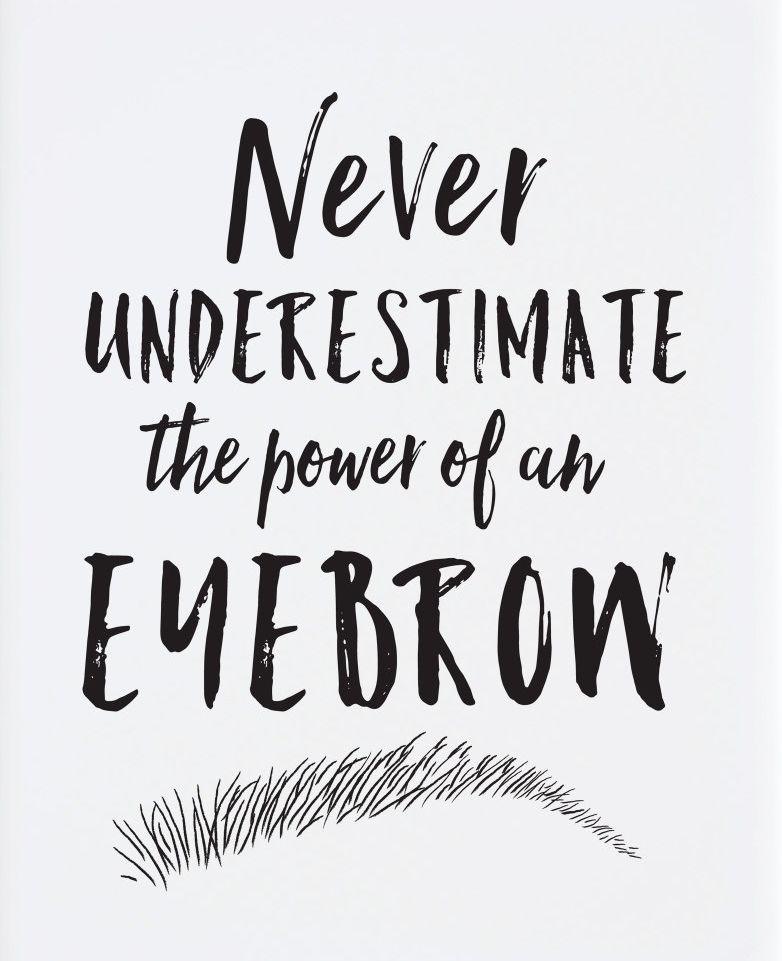 Eyebrow Print Salon Decor Makeup Decor Black And White Etsy Makeup Quotes Brow Quotes Eyebrow Quotes
