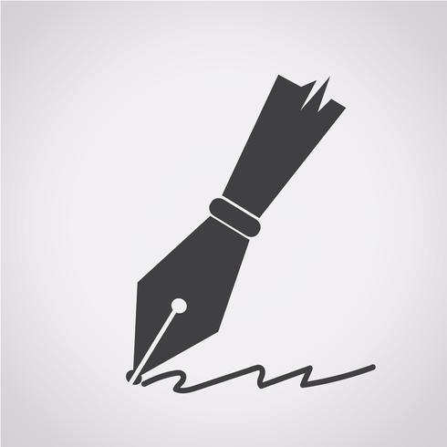Pen Icon Symbol Sign Pen Icon Pen Design Vintage Pens