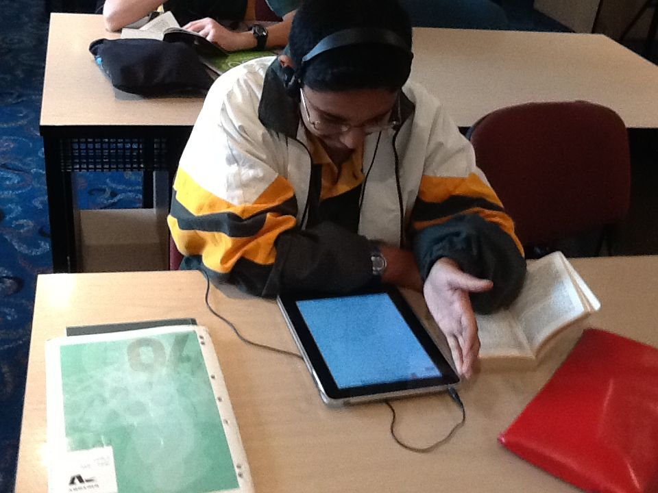iPads used to record students fluency in reading