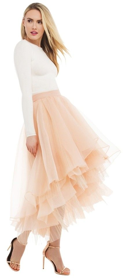 5908ef3dc Gracia Sheer Layered High-low Tulle - Skirt. Free shipping and guaranteed  authenticity on Gracia Sheer Layered High-low Tulle - Skirt at Tradesy.