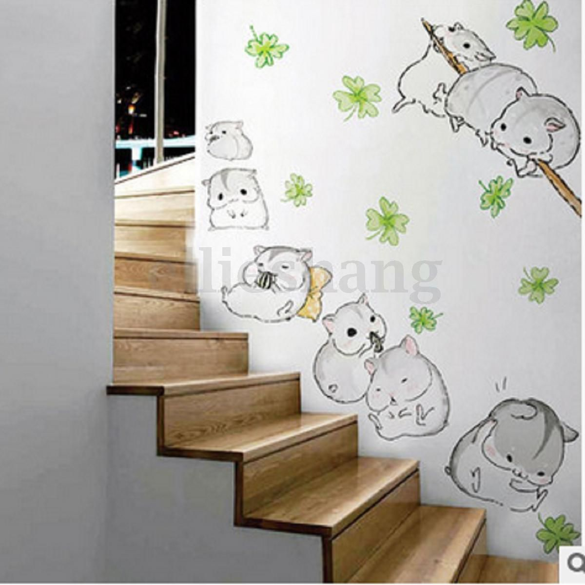 Cute-Hamster-Wall-Stickers-Kid-Childrens-Bedroom-Mural-Decals-Home ...