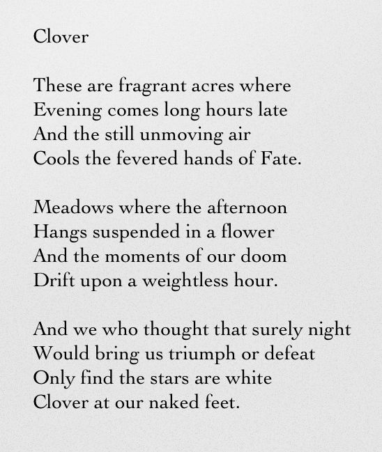 Clover - Tennessee Williams