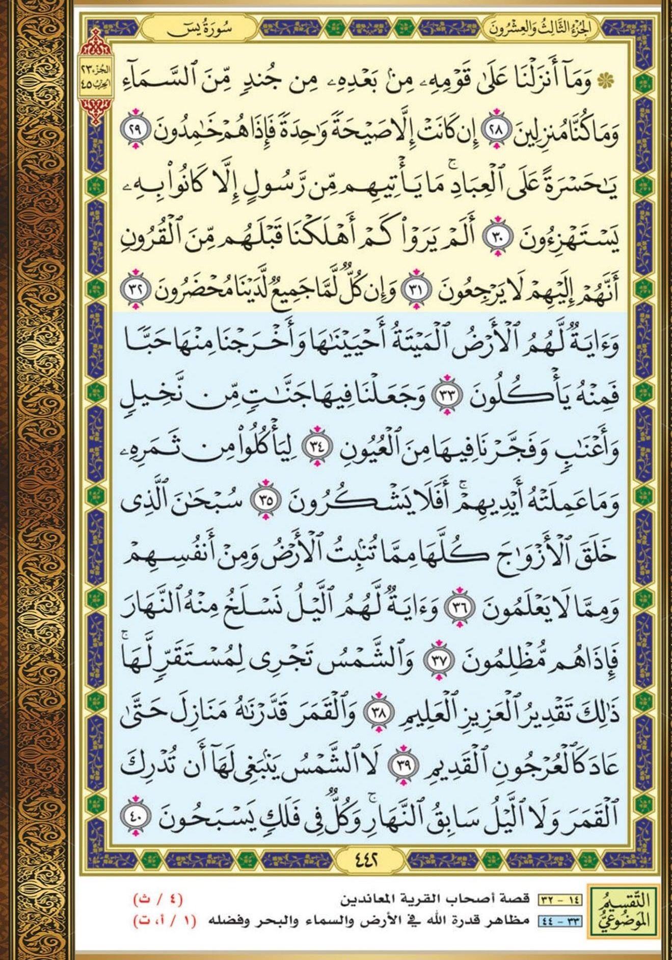 ٢٨ ٤٠ يس مصحف التقسيم الموضوعي Quran Book Holy Quran Book Bullet Journal