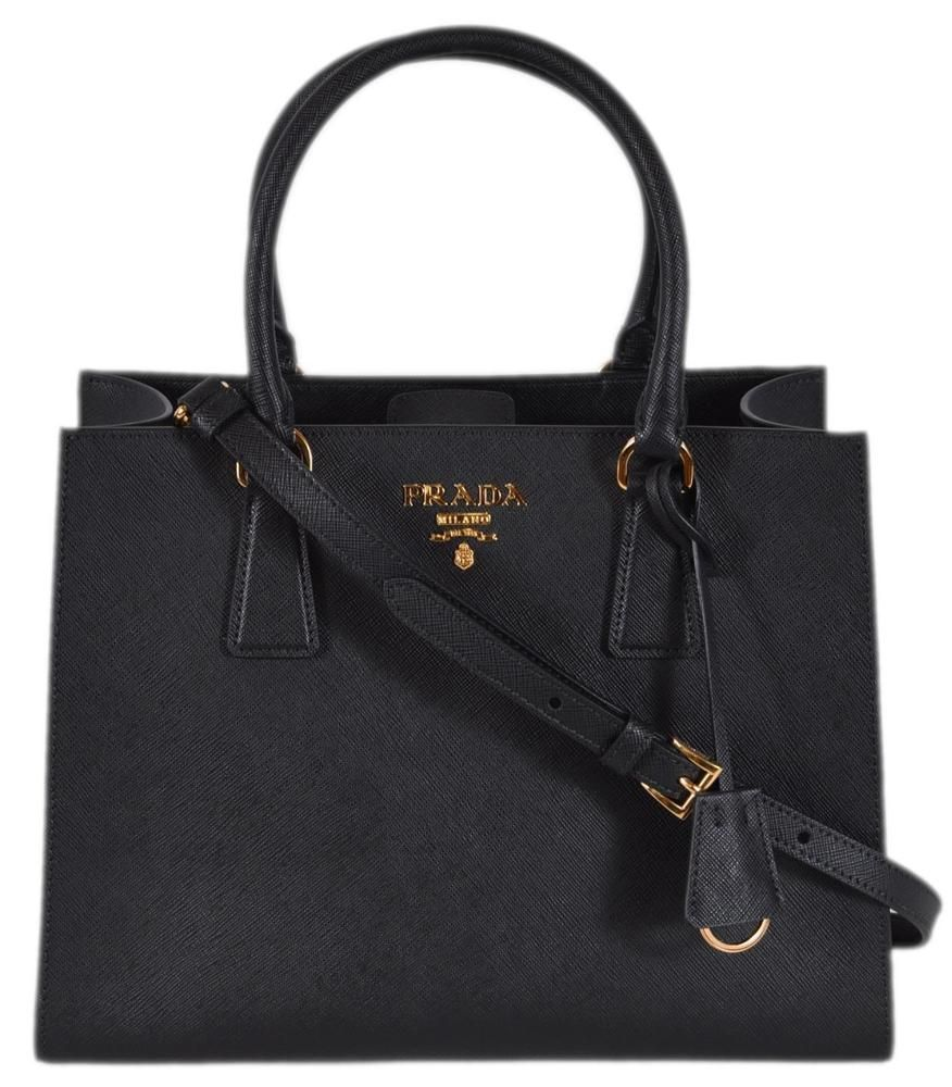 2fcfa7bd56 New Prada 1BA118 Black Saffiano Leather Lux Convertible Purse Handbag Tote   fashion  sale  louisvatton  wearing  money