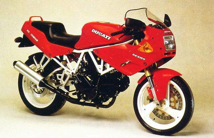 The 1992 MY Ducati 350SS comes with fittings such as a 41mm Showa upside-down telescopic front fork, an adjustable mono-shock as a re...