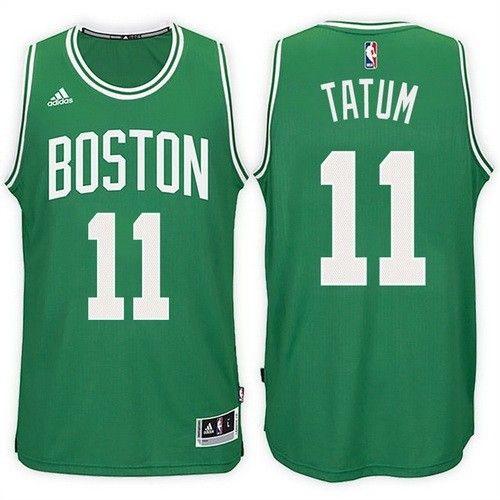 reputable site c290d a4cd9 Men's Boston Celtics #11 Jayson Tatum Green Swingman Jersey ...