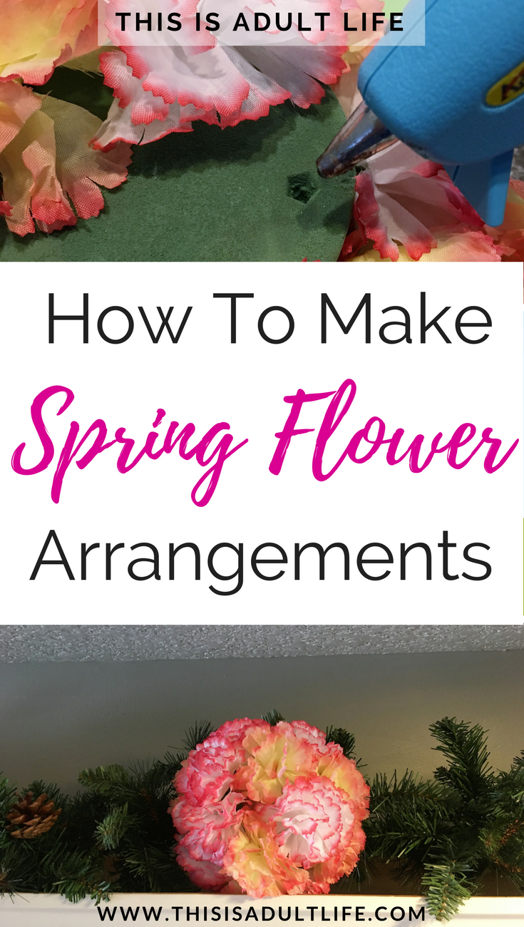 How to make spring flower arrangements for only 10 spring flower how to make spring flower arrangements diy easter home decor cheap diy home decor how to make flower arrangements yourself what you need to bring a izmirmasajfo Choice Image