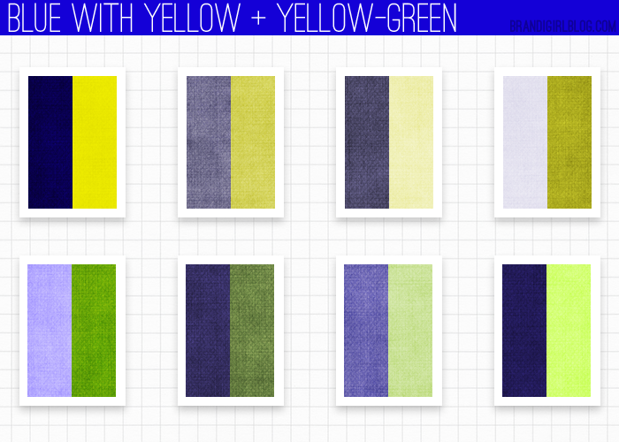 using blue - yellow and yellow-green | color inspirations