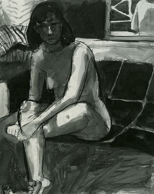 Image result for richard diebenkorn figure drawing