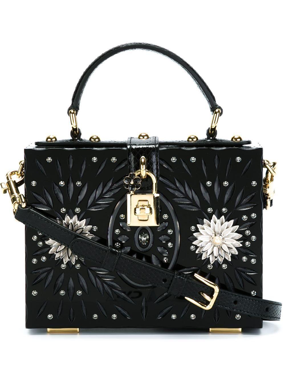 4675cdbb5f35 Dolce & Gabbana Embellished Box Tote Bag - Eraldo - Farfetch.com ...