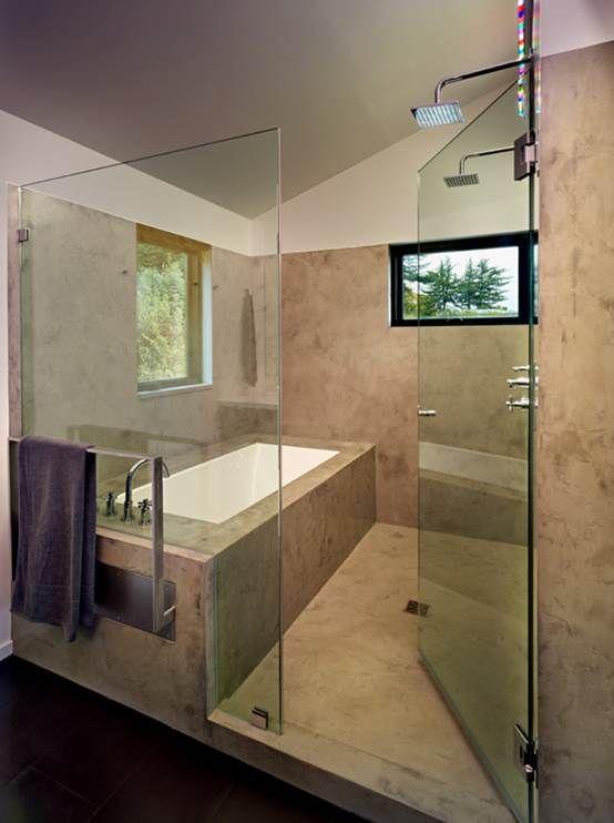 Tub In The Shower Area Neet Concept Diseno De Banos Diseno De