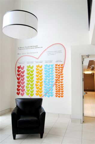 Donor Wall Not Hearts Maybe With The Gl Globe