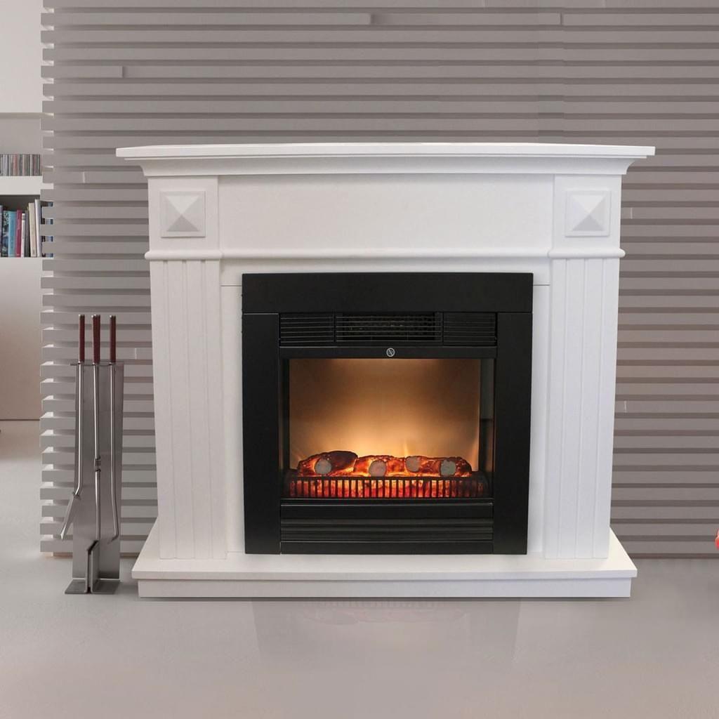 elektrischer kamin schwarz umrandung 110x96x36cm wei grundiert pinterest elektrischer. Black Bedroom Furniture Sets. Home Design Ideas