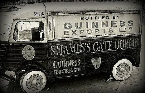 Rare photo of old Guinness delivery van.