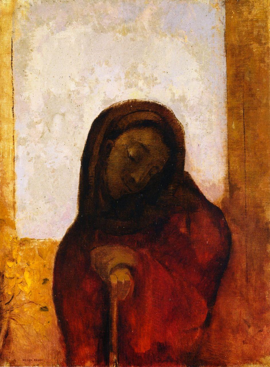 Odilon Redon ~ Despair (Suffering), 1882