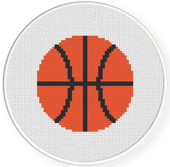 Basketball Cross Stitch Pattern Needlework Pinterest Free