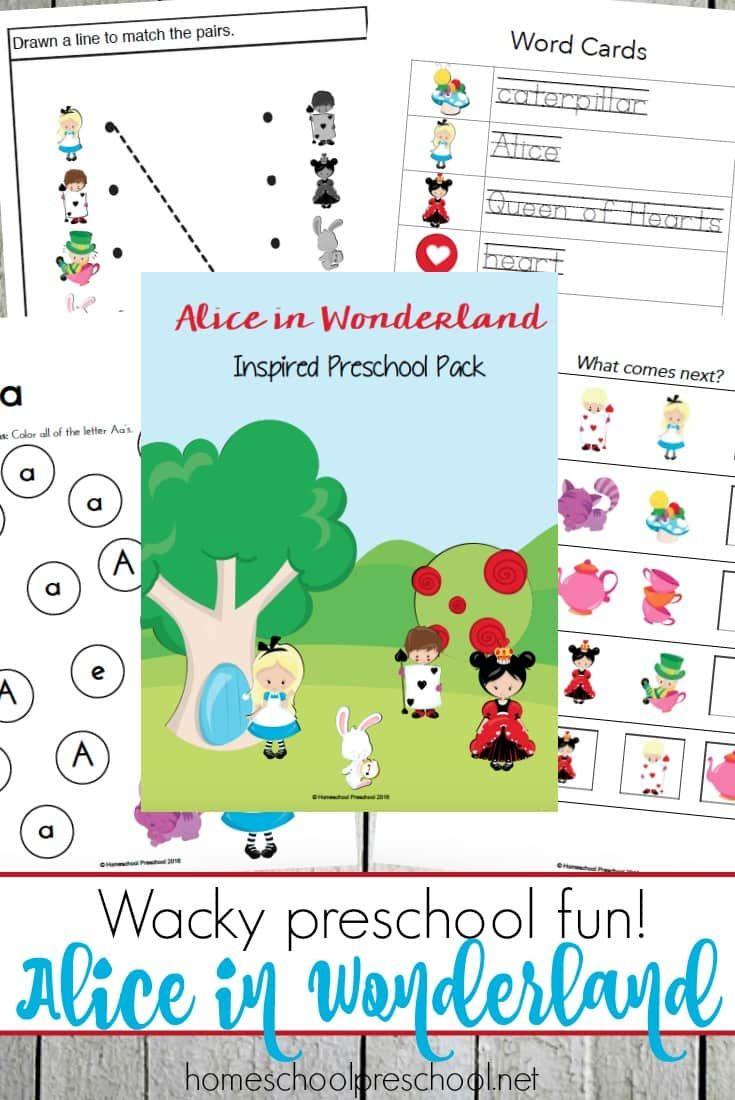 Alice in Wonderland Printables for Tots and Preschoolers ...