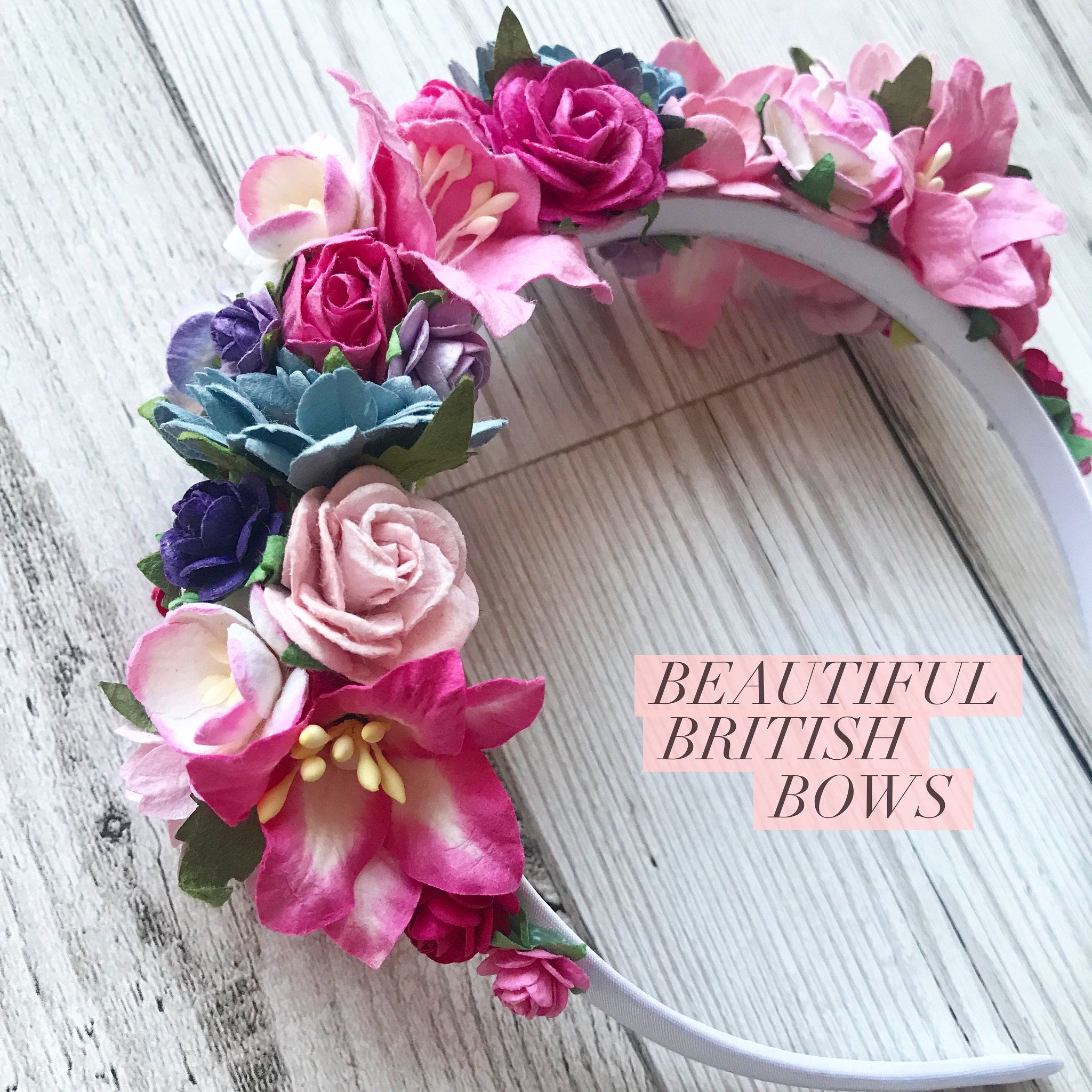 Floral Flower Crown Made From Paper Flowers From Thailand Made On