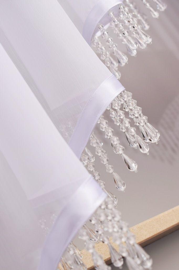 Koraliki Girlandy Kryształy Do Firan Na Taśmie 7cm