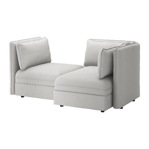 VALLENTUNA 2er-Sitzelement - mit Stauraum, Orrsta olivgrün ...