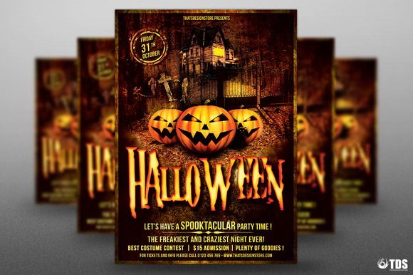 Halloween Flyer Template V1 by Thats Design Store on @creativemarket