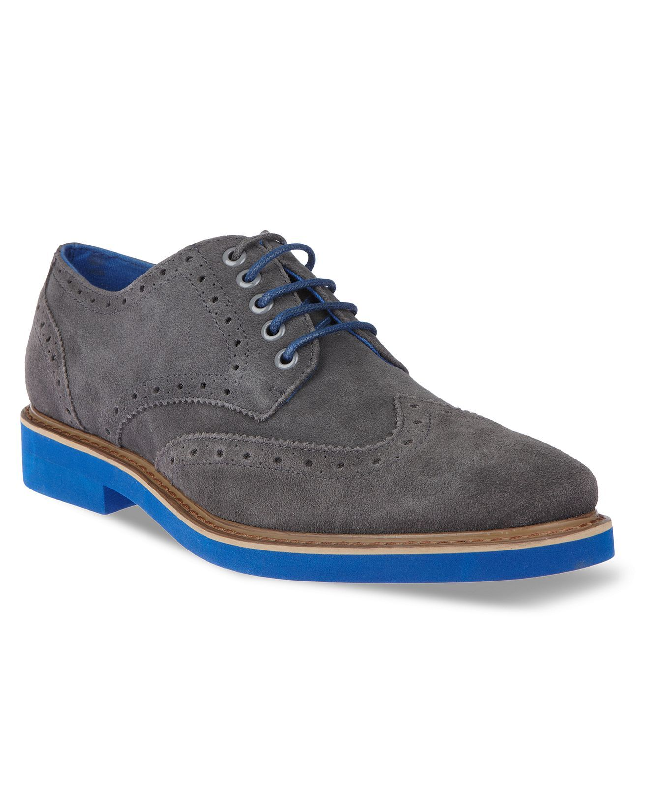 Steve Madden Shoes, Kikstart Oxford Wingtip Lace-Ups - Mens Shoes - Macy s ff87571537
