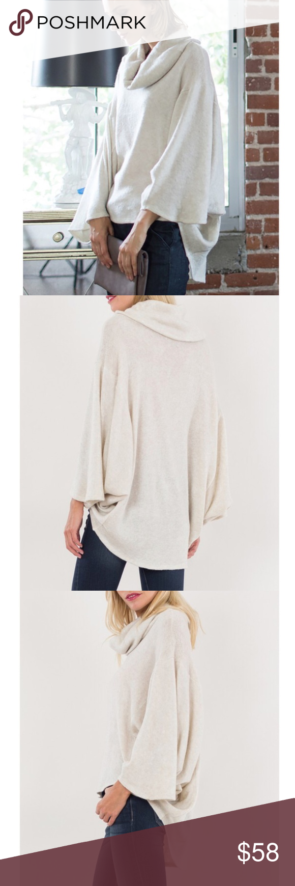 Sold Ivory Dolman Sleeve Cowl Neck Sweater Boutique | Knit cowl ...