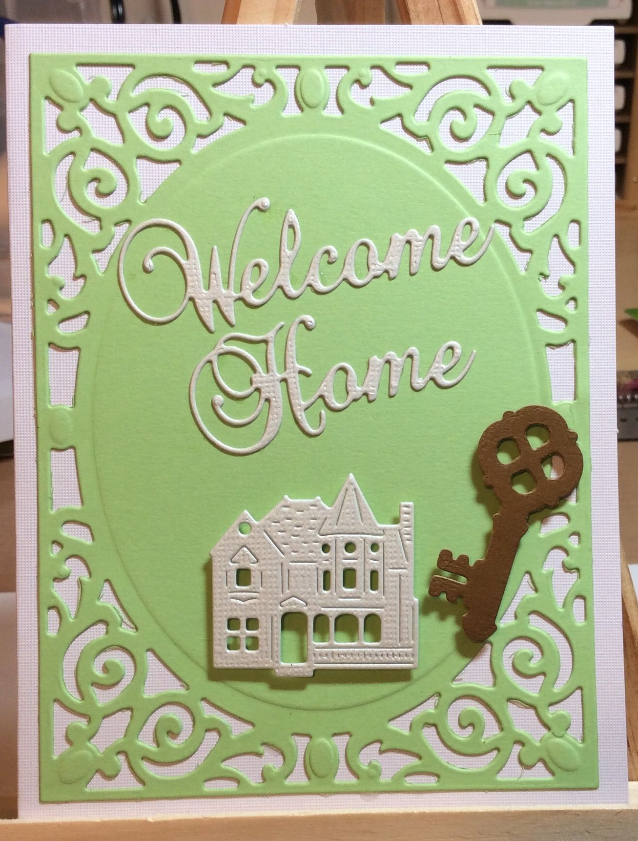 Image result for cards made using frantic stamper village victorian house