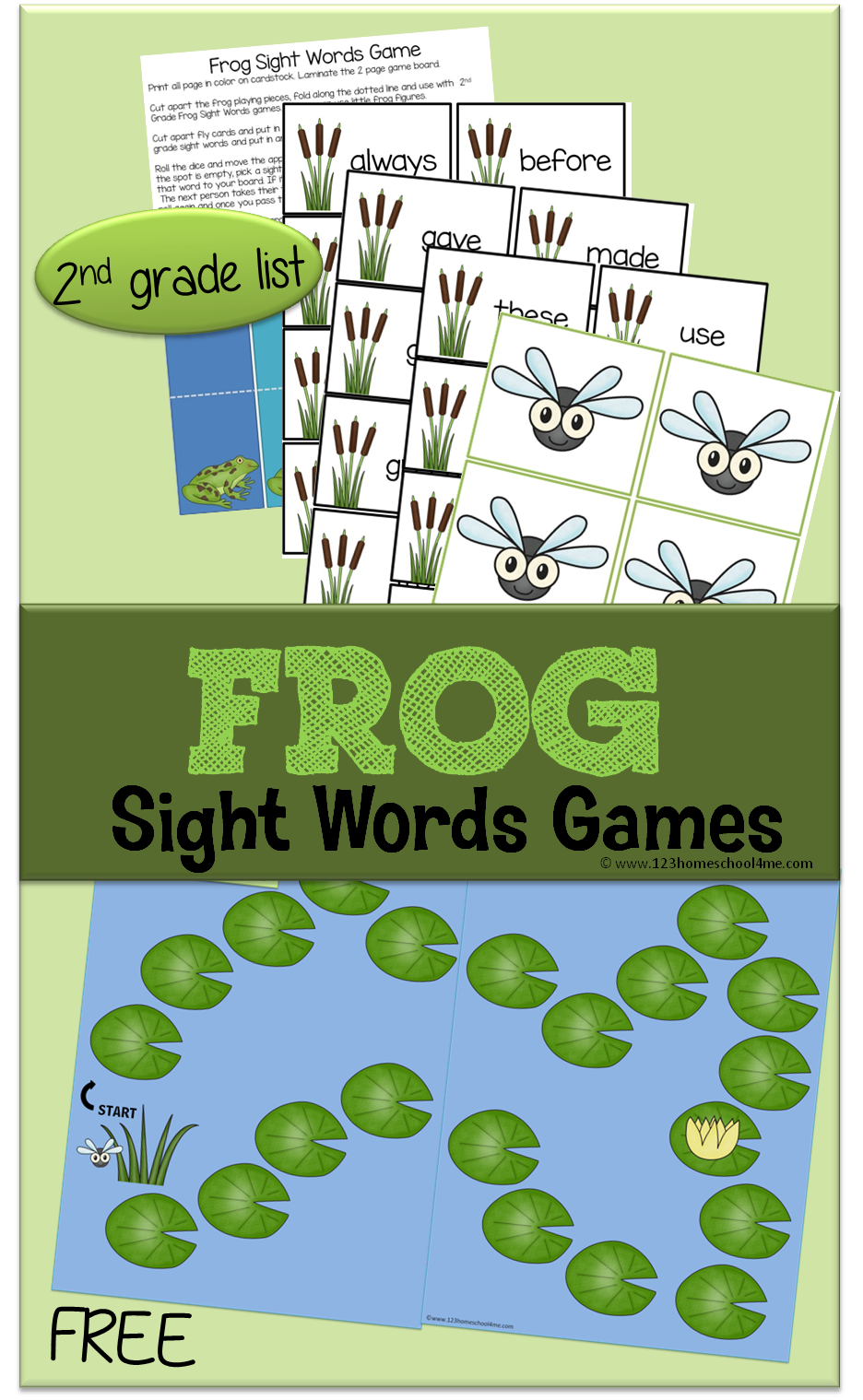 FREE Frog Sight Word Games This free printable