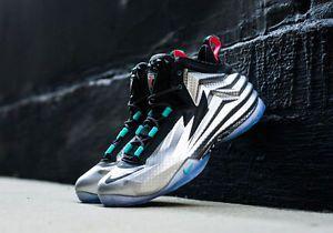 f6ccb5e66f4db Nike Chuck Posite Metallic Silver Charles Barkley Men s 9 5 Basketball Shoes