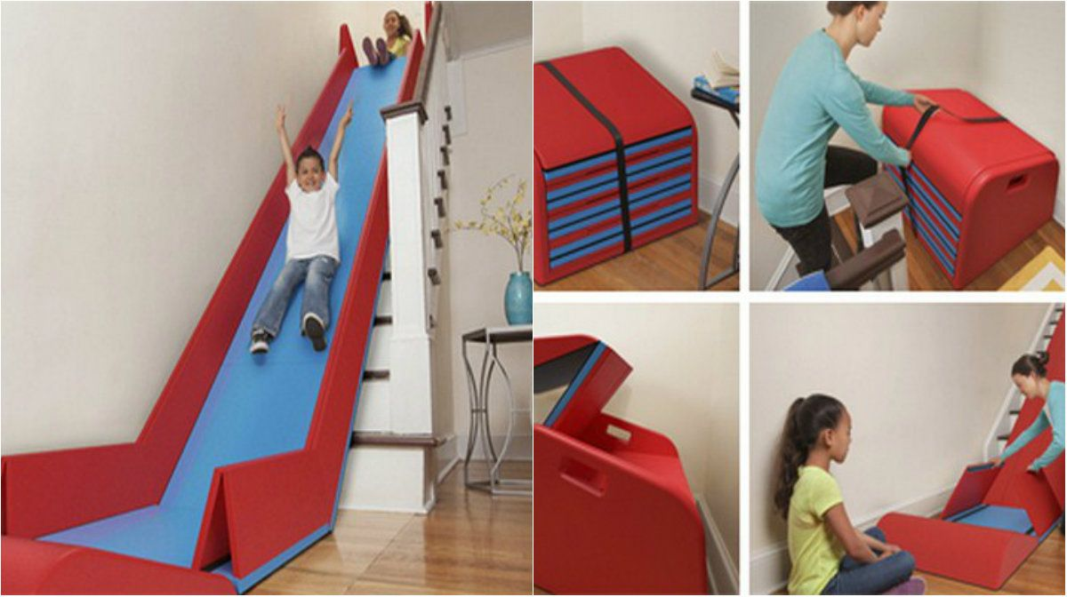 Turn the Stairs into a Slider – Best Fun for the Kids – Architecture Admirers
