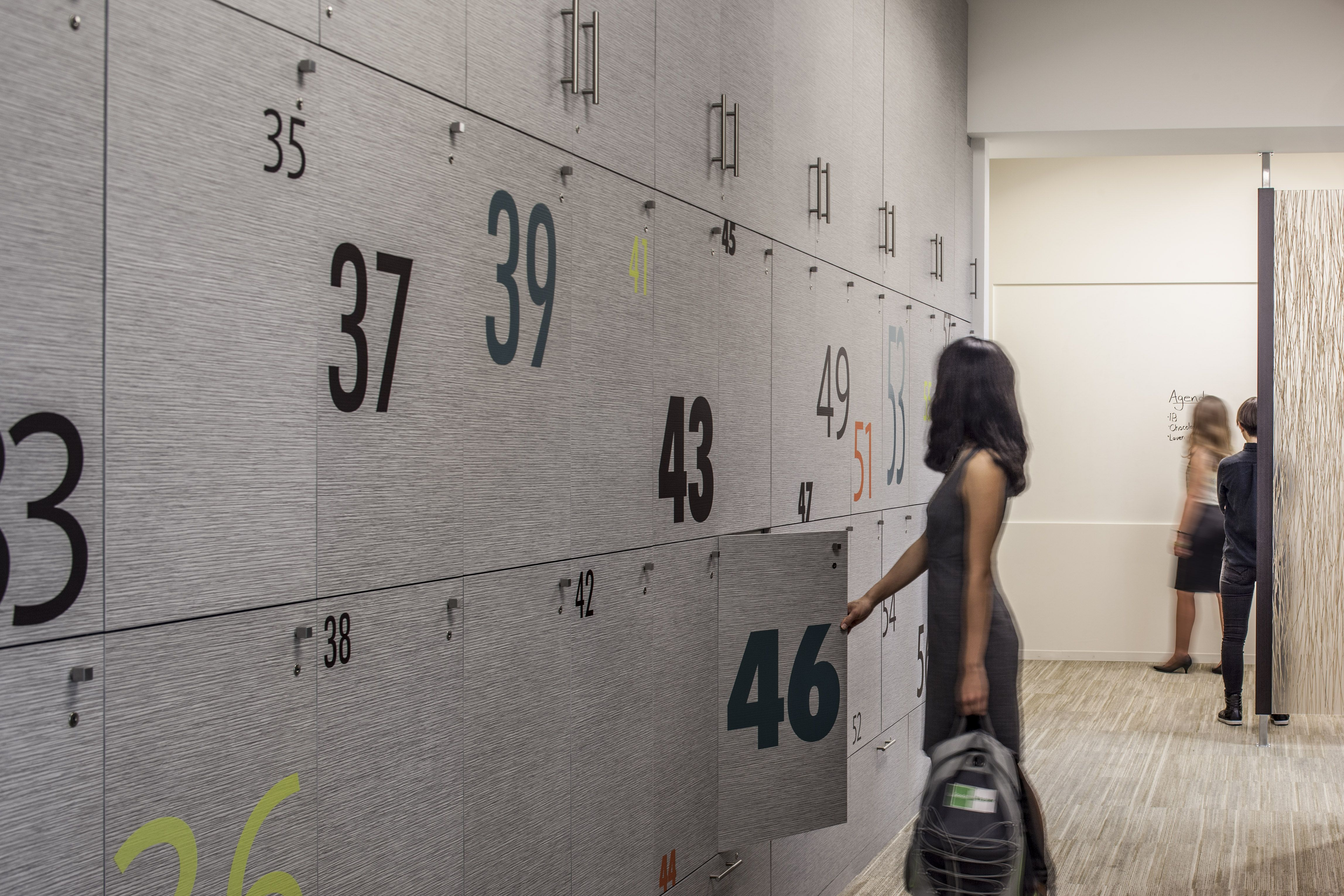 Employee Lockers | Modern Workplace | Goodman Birtcher | Corporate ...