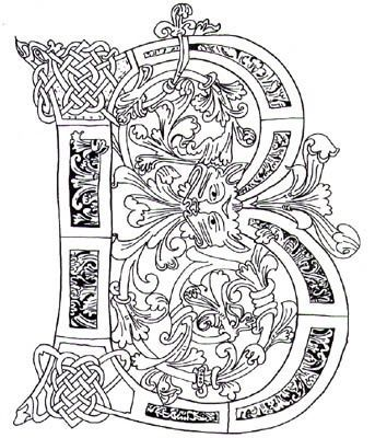illuminated alphabet coloring pages - illuminated alphabet coloring pages illuminated manuscript