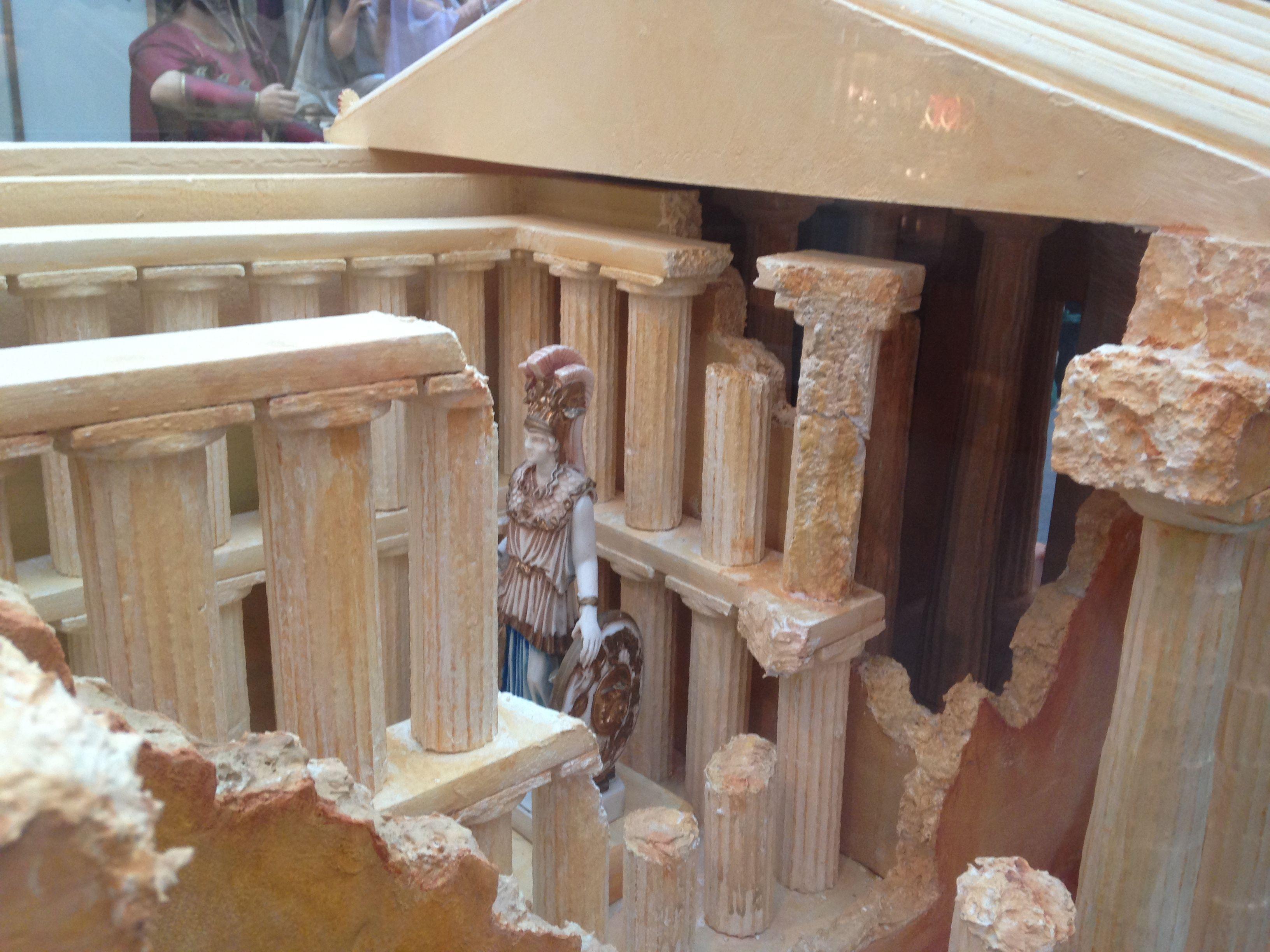 Detalhes do interior do panteão de Atenas