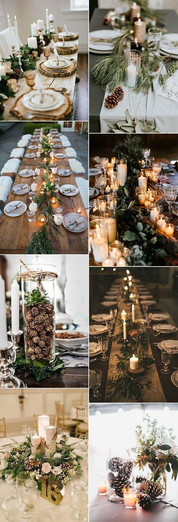 Wedding decorations with flowers november 2018  Whimsical Winter Wonderland Wedding Centerpieces  November