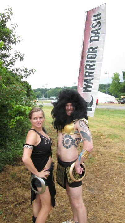 Warrior Dash Costumes. Zenia Warrior Princesses DIY Couples Costume