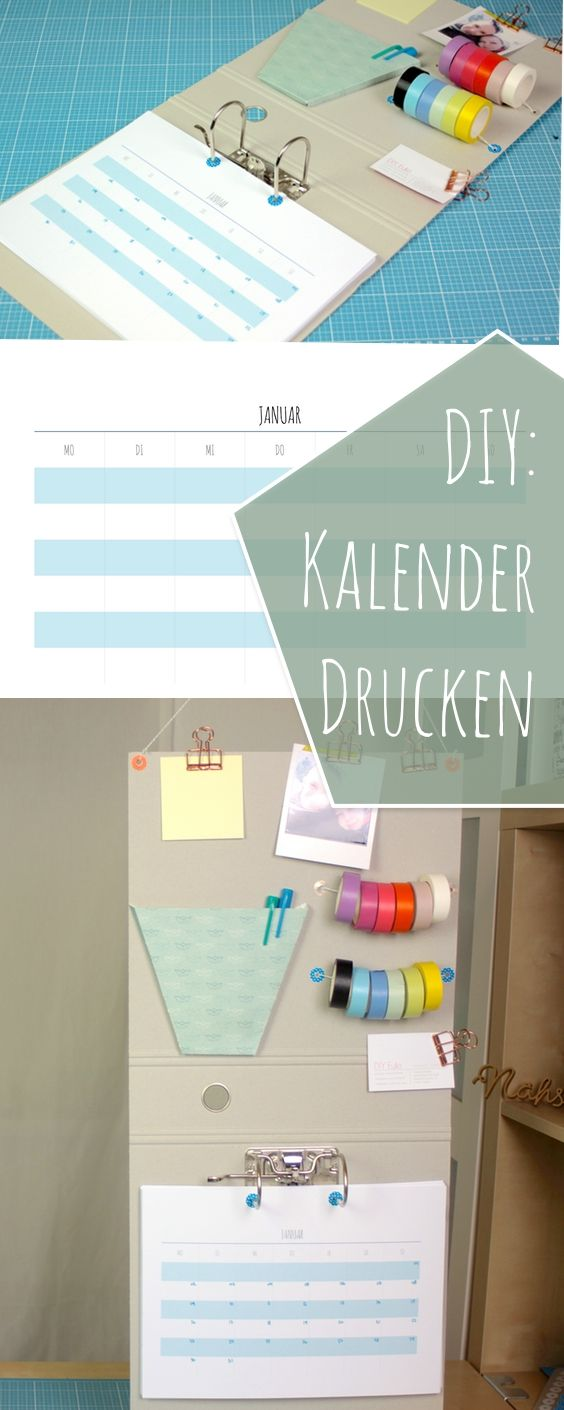 kalender aus ordner selber basteln mit washi tape foldback klammern und post its inklusive. Black Bedroom Furniture Sets. Home Design Ideas