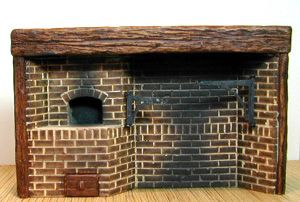 Colonial Cooking Brick Fireplace