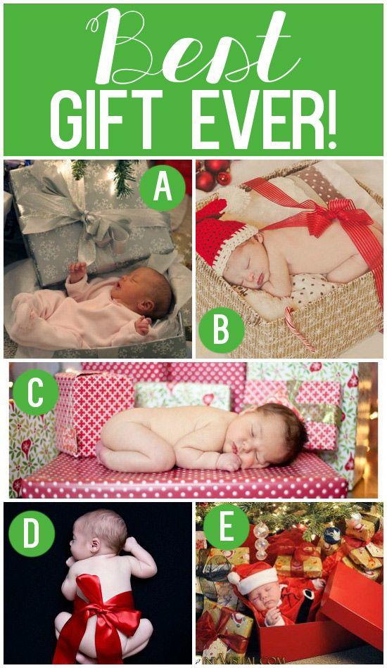 Newborn Christmas Photo Shoot Idea #newbornphotos #christmasgift
