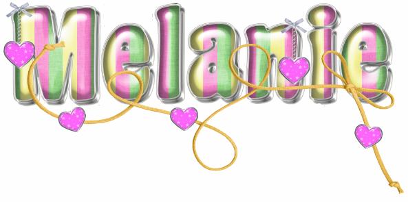 Melanie Glitter Graphics | Glitter Text » First Names ...