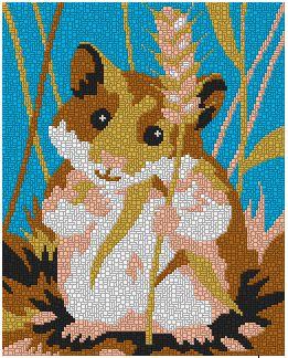 Vorlage Von Dar Mosaic Fur Ministeck Material Ministeck Vorlagen Hamster