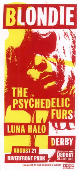 GigPosters.com - Blondie - Psychedelic Furs - Luna Halo - Derby
