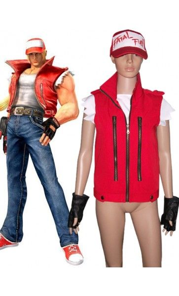 King of Fighter Terry Bogard Star Red Halloween Costumes. Cosplay ...